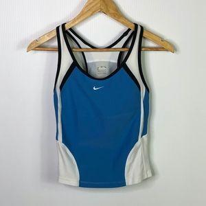 Nike Blue & White Racerback Tank Top XS